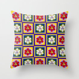 Spanish Tiles - A Throw Pillow