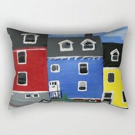 Newfoundland Houses Canada acrylics on canvas Rectangular Pillow
