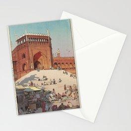 Hiroshi Yoshida - Jami Masjid - Delhi (Derii no Juma Mashiddo) 1931 Stationery Cards