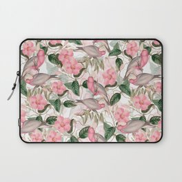 Vintage & Shabby Chic - Pink Tropical Birds And Flowers Laptop Sleeve
