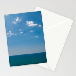 Clear blue endless seaview | Biarritz coast France | Nature fine art photography | Stationery Cards