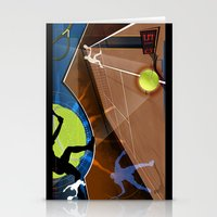 tennis Stationery Cards featuring Tennis by Robin Curtiss