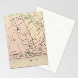 Vintage Map of Long Branch NJ (1872) Stationery Cards