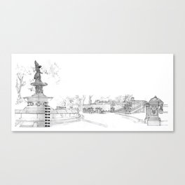 Belvedere Fountain, Central Park, NY Canvas Print