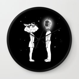 Day Dreamer Meets Night Thinker Wall Clock