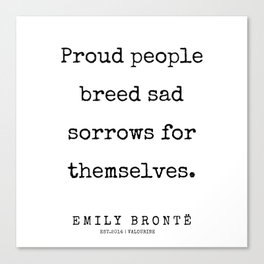 22 | 200211 | Emily Bronte Quotes | Canvas Print
