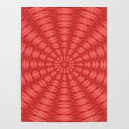 Succulent Red and Yellow Flower Abstract  Poster