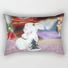 White Bunny Of Christmas Rectangular Pillow
