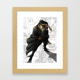 Jotaro Kujo Artwork Framed Art Print