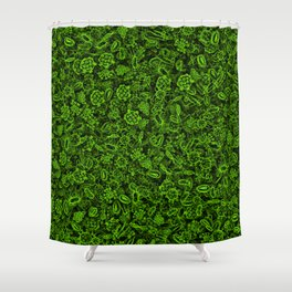 Green micropets Shower Curtain