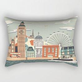 UK london art new love tower watch illustration iphone pillow 2018 trend popular sticker Rectangular Pillow