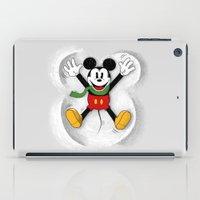 mickey iPad Cases featuring Snow Mickey by Florent Bodart / Speakerine