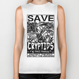 SAVE THE CRYPTIDS Biker Tank