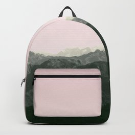 Mountains | Green + Pink Backpack
