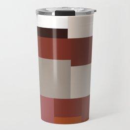 Geometric Art Multicolor Blocks Travel Mug