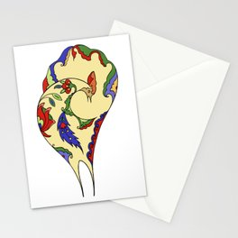 Bird and flowers Stationery Cards
