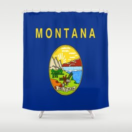 flag of montana,america,usa,big sky,treasure state, montanan,west,Billings,missoula,great falls Shower Curtain