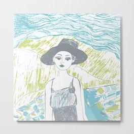 Woman on the beach 2 Metal Print