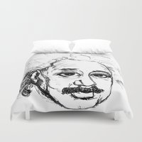 chibi Duvet Covers featuring Chibi Einstein by Hazel Bellhop