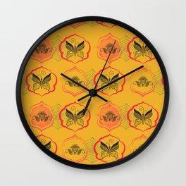 Butterfly motif Wall Clock