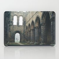 downton abbey iPad Cases featuring Gloomy Abbey by For the easily distracted...