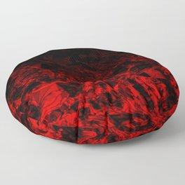 Red Nite - black red triangle geometric swirl gradient pattern Floor Pillow