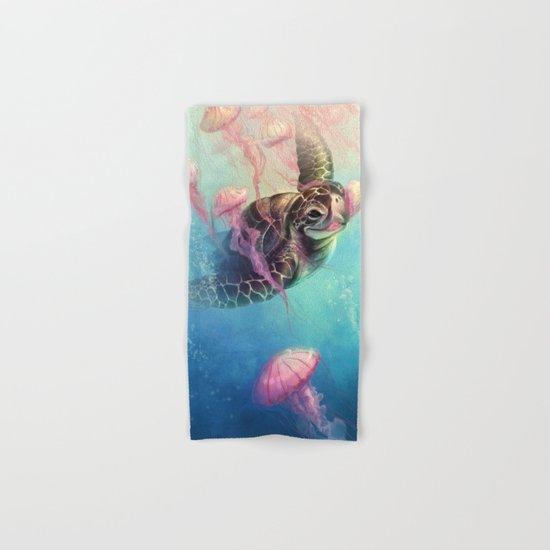 Sea Turtle and Jellyfish! Hand & Bath Towel