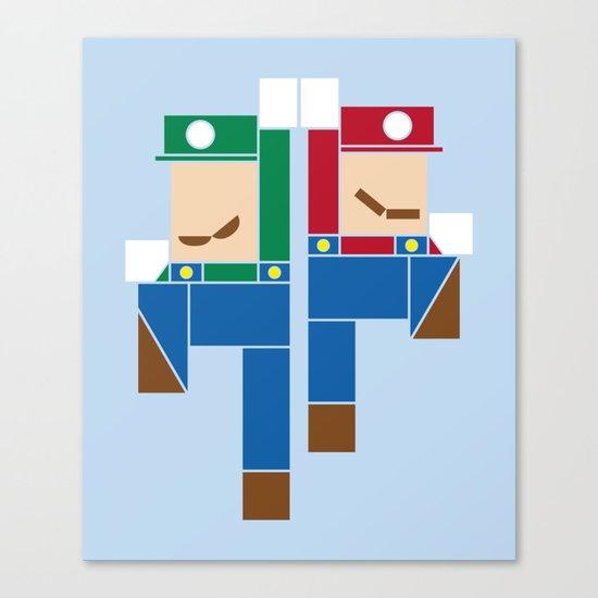 Super Bro High Five Canvas Print
