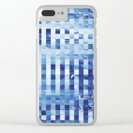 Nautical pixel abstract pattern Clear iPhone Case