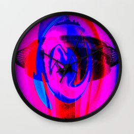 Purple Needle Wall Clock