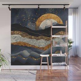 Metallic Mountains Wall Mural