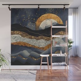 Metallic Mountains Wall Mural