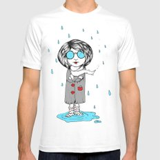In the Rain Mens Fitted Tee MEDIUM White