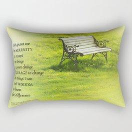 Serenity Prayer Bench Rectangular Pillow