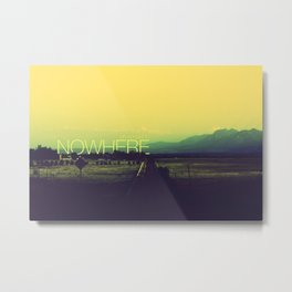 On a road to nowhere Metal Print
