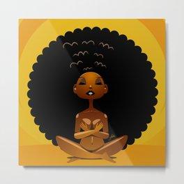 Spiritual AfroGirl Metal Print