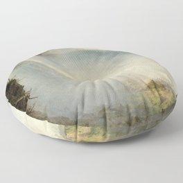 Frederic Edwin Church - Niagara Falls Floor Pillow