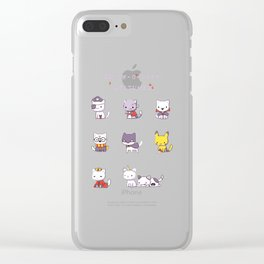 Meow-o-ween Costumes Clear iPhone Case