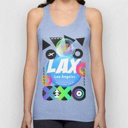 LAX Los Angeles airport code Unisex Tank Top