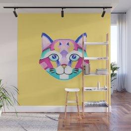 Geometric cat Wall Mural