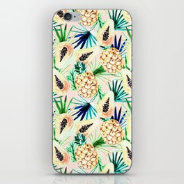 Pattern of tropical fruit and plants I iPhone Skin