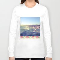 santa monica Long Sleeve T-shirts featuring Santa Monica Beach by Kurt Schawacker
