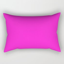 From The Crayon Box – Hot Magenta - Bright Neon Pink Purple Solid Color Rectangular Pillow