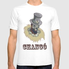 PAPA CHANGO MEDIUM Mens Fitted Tee White