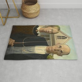 American Gothic, Classic Art Painting, Grant Wood Rug