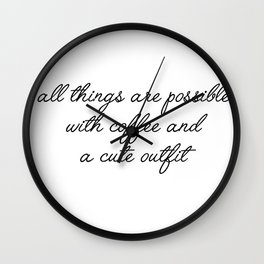 all things are possible Wall Clock