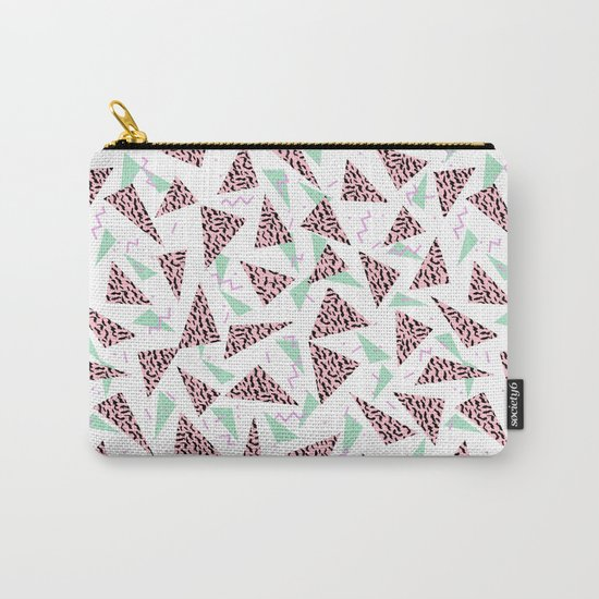 Everitt - triangles minimal modern abstract pattern design geometric decor Carry-All Pouch