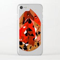 GEMS - red , velvet , orange , rubin Clear iPhone Case