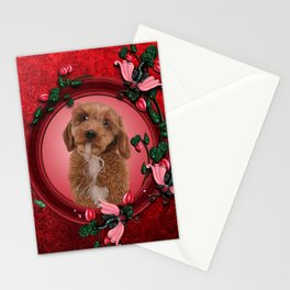 Cute little cockapoo puppy Stationery Cards