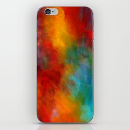 Lovely Colorful Clouds Two - Digital Abstract Painting iPhone Skin